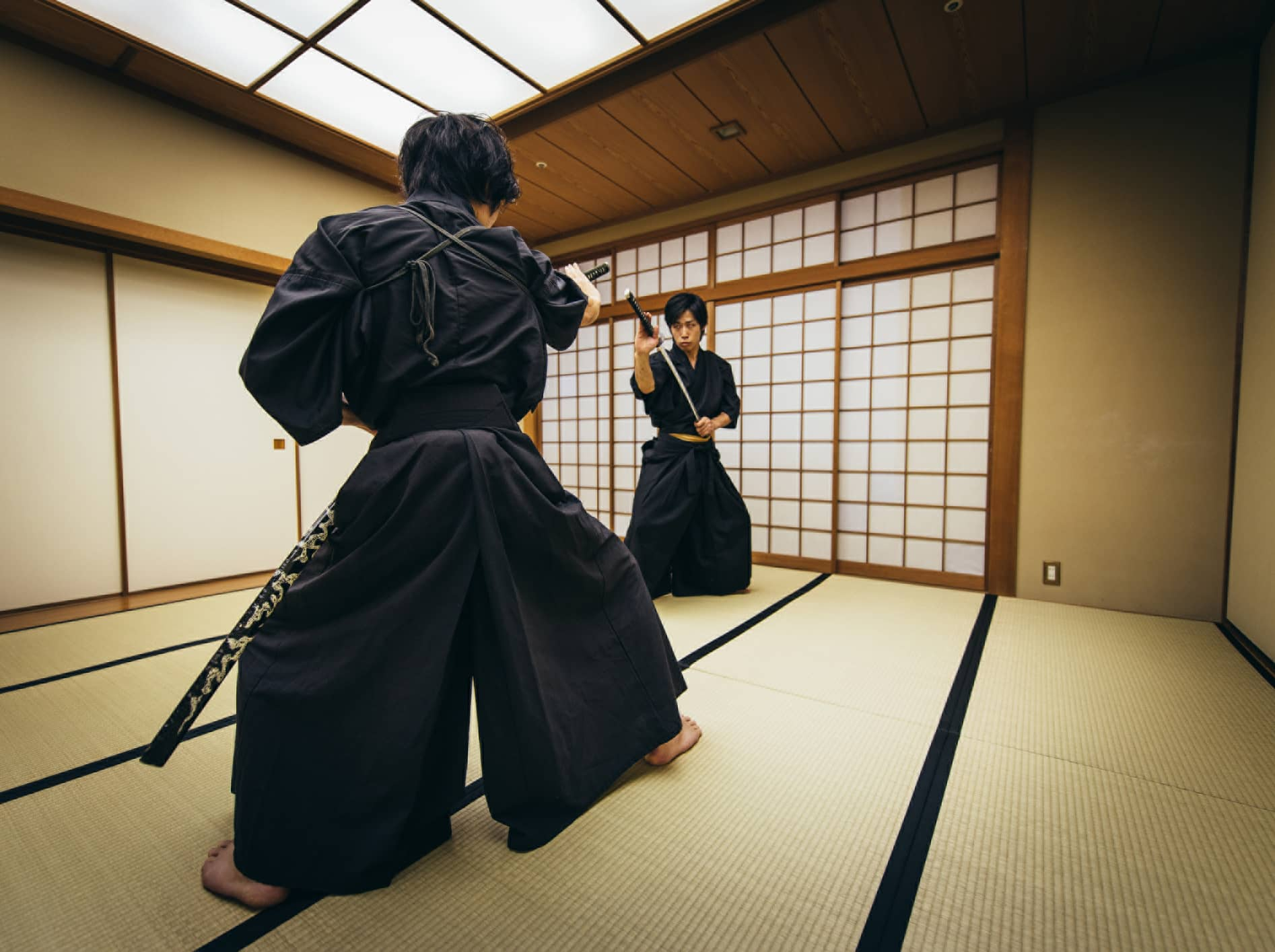 Kyoto samurai sword fighting