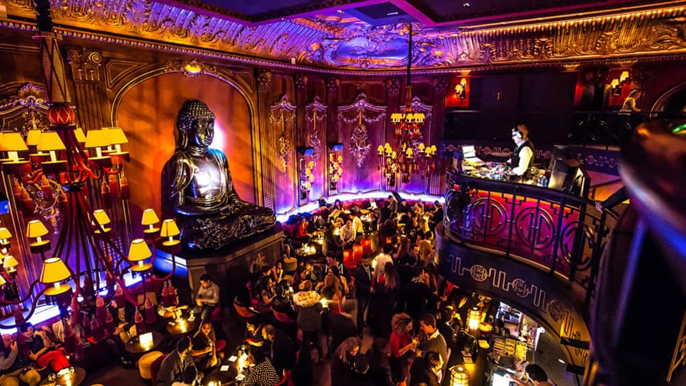 When night falls, a fashionable crowd descends on Buddha-Bar, in nearby  Monaco, where the cocktails are just as extravagant as the décor.