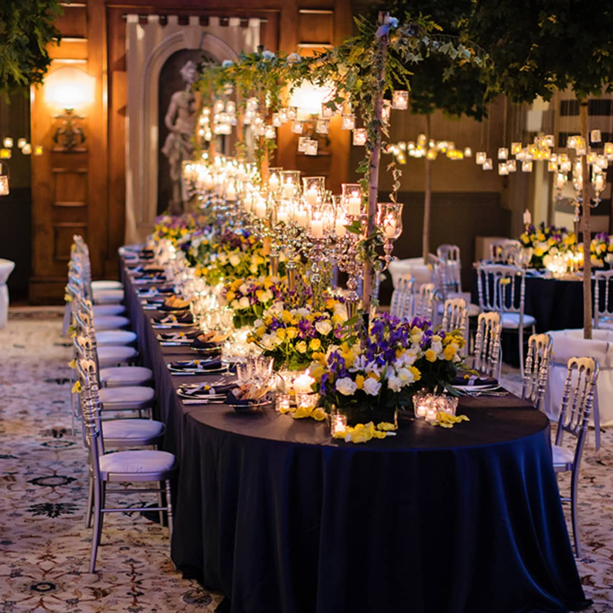 Flowers And More Than 2000 Candles Decorate The Reception Space Its Immaculate Tables