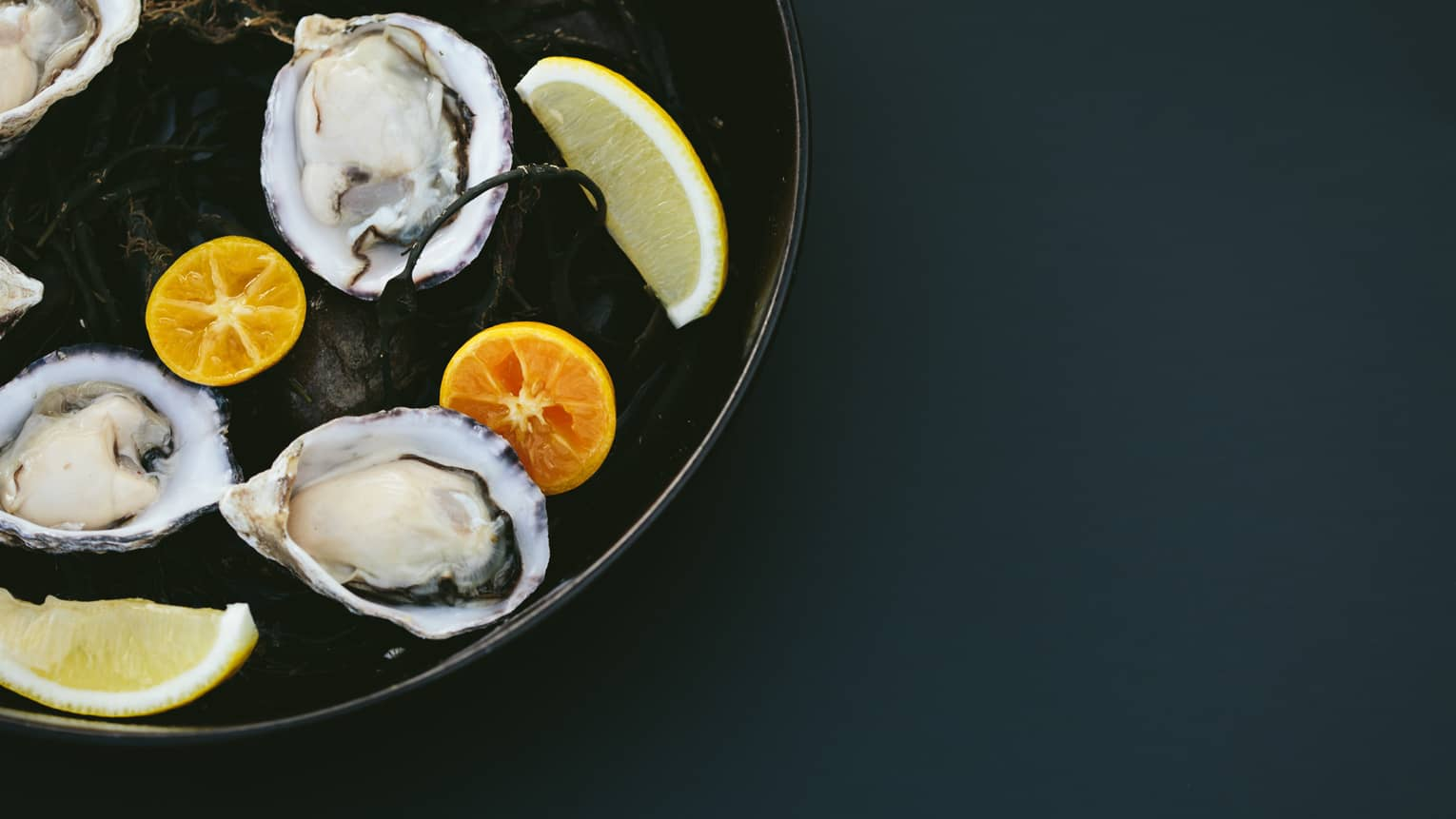 Oyster dish with citrus