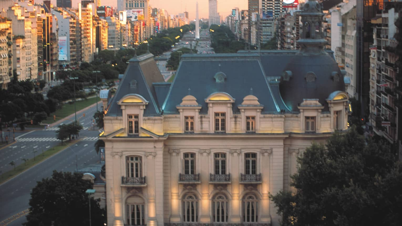 View of surrounding neighbourhood. Hotel Mansion in foreground.