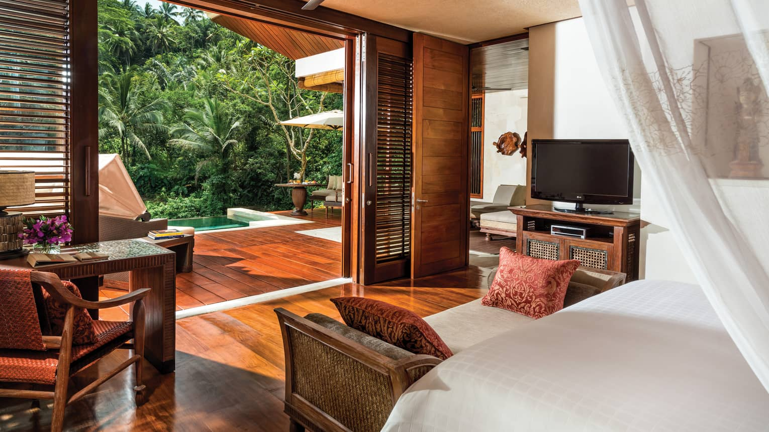 A Riverfront Villa overlooking a forest in Bali