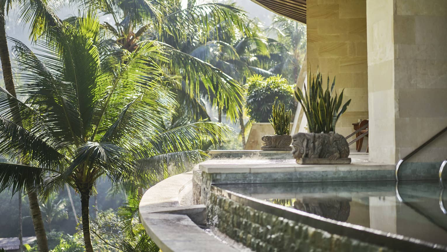 Plunge pool at a spa in Bali