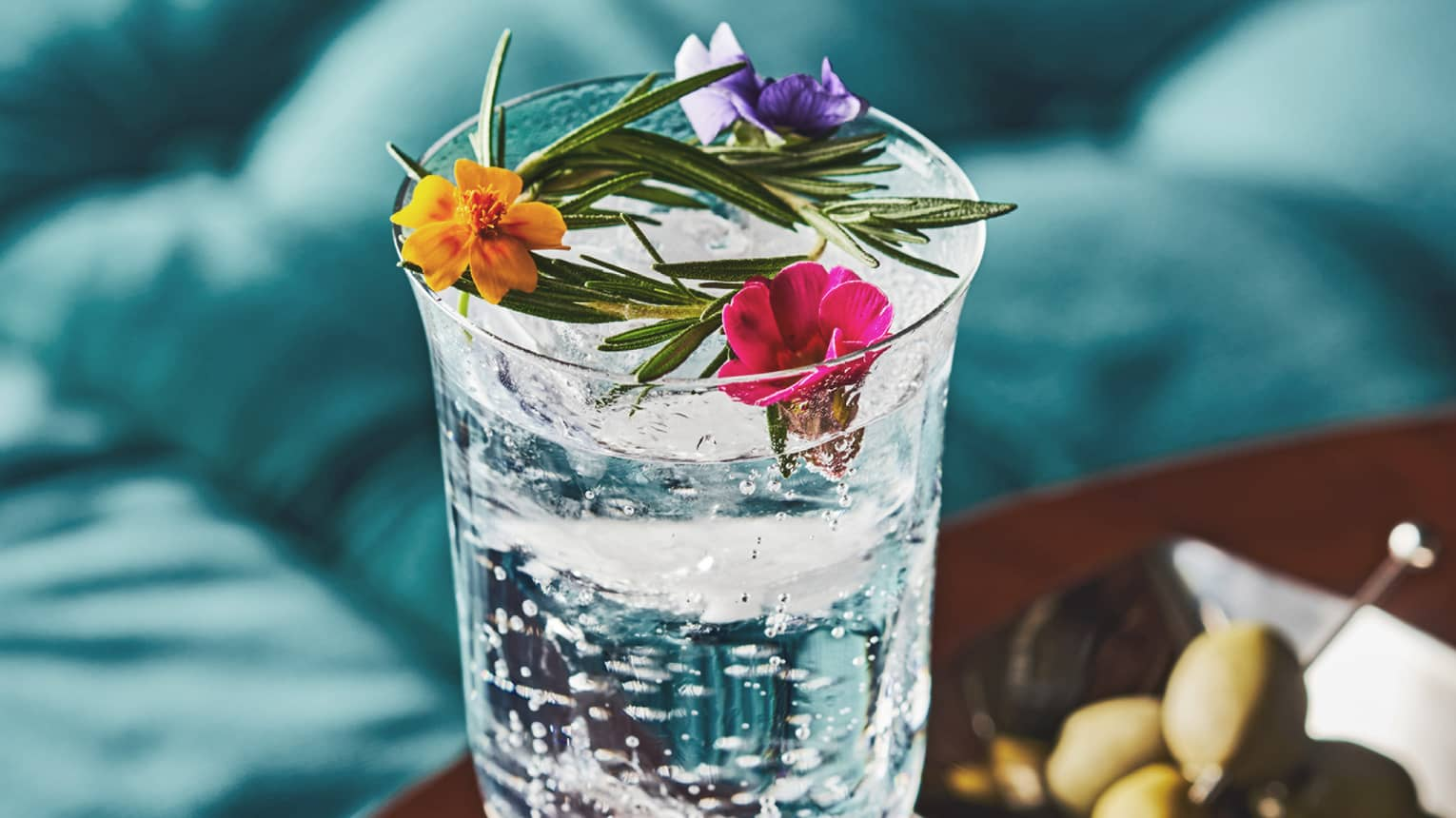 The Ms. Frida, made with Bianca Tequila, grapefruit, lavender cordial, bergamot and tonic