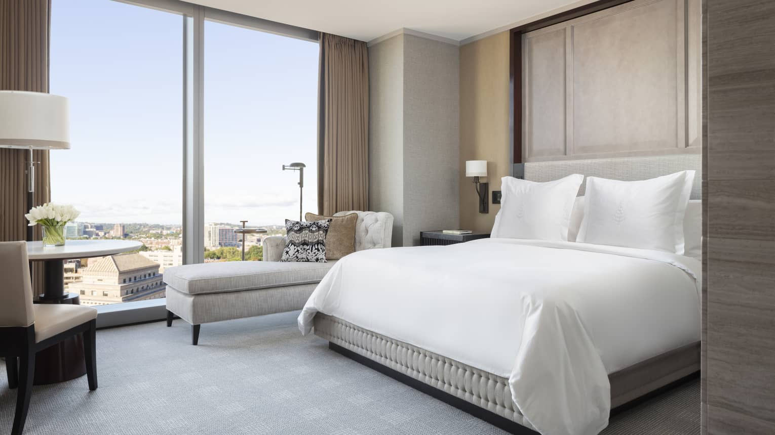 Premier Room, with floor to ceiling windows overlooking Boston's historical landmarks