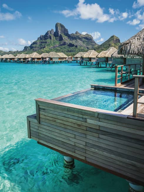Overwater Bungalows Bora Bora Huts Villas Four Seasons