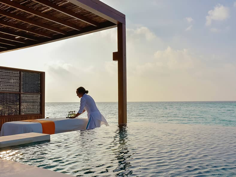 Relax in the Maldives at a one-of-a-kind island spa