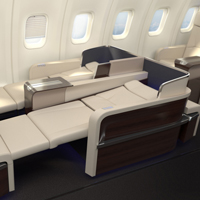Four Seasons Jet flat bed seats