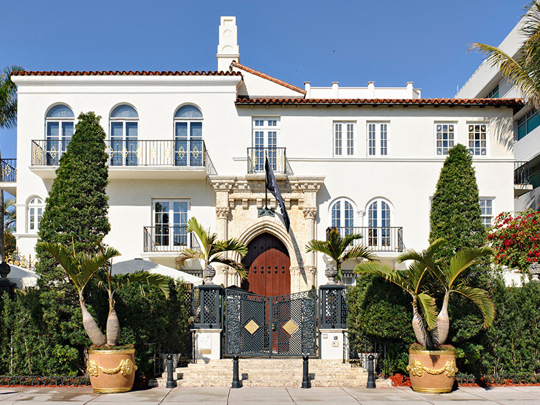 Begin your journey Miami-style at the Versace Mansion